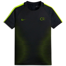 Nike Youth Dry CR7 Football Top (Black/Volt/Volt)