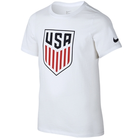 Nike Youth USA Crest T-shirt (White)