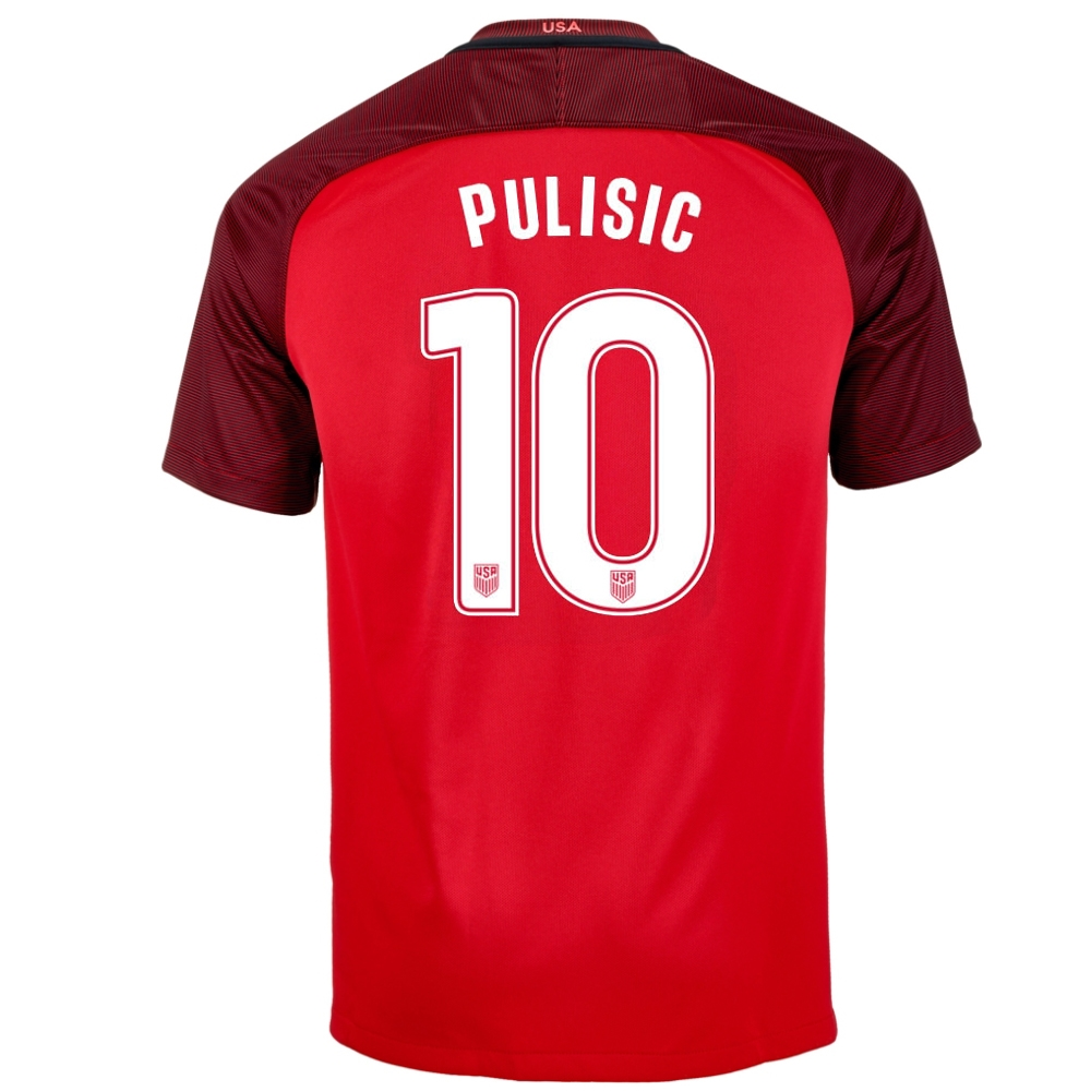 a255fd6071f Nike Youth USA  PULISIC 10  3rd Stadium Soccer Jersey (Gym Red ...