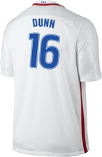 Nike USA 2016 OLYMPIC RIO 'DUNN 16' Youth Soccer Jersey (White/Royal/Red)
