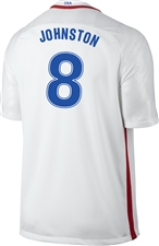 Nike USA 2016 OLYMPIC RIO ' JOHNSTON 8' Youth Soccer Jersey (White/Royal/Red)