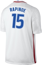 Nike USA 2016 OLYMPIC RIO 'RAPINOE 15' Youth Soccer Jersey (White/Royal/Red)