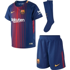 Nike FC Barcelona Home Little Kids '17-'18 Soccer Kit (Deep Royal Blue/University Gold)
