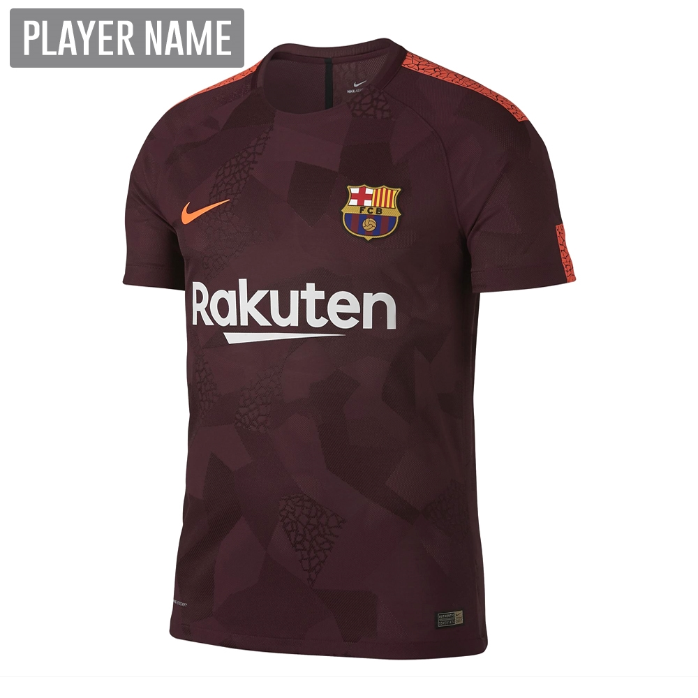 new products 2e92c 10965 Nike FC Barcelona '17-'18 Youth Third Soccer Jersey (Night Maroon/Hyper  Crimson)