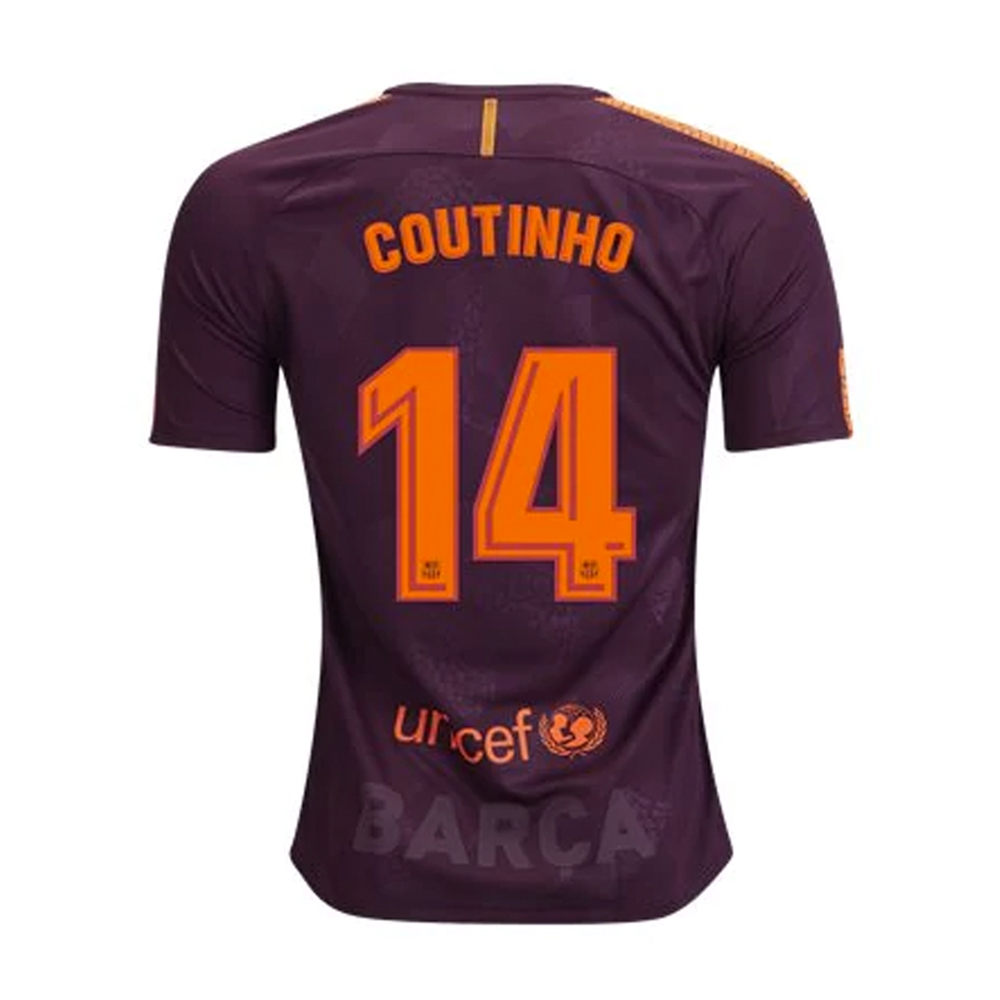 4432559a747 Nike FC Barcelona Youth  COUTINHO   17- 18 Third Soccer Jersey ...