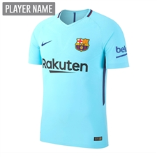 Nike FC Barcelona Youth Away '17-'18 Soccer Jersey (Polarized Blue/Deep Royal Blue)