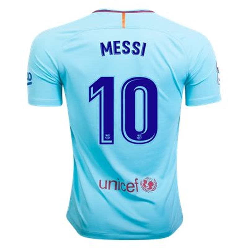 low priced fce87 1c6fe Nike FC Barcelona Youth 'MESSI 10' Away '17-'18 Soccer Jersey (Polarized  Blue/Deep Royal Blue)
