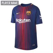 Nike FC Barcelona '17-'18 Youth Home Soccer Jersey (Deep Royal Blue/University Gold)