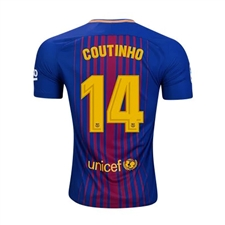 Nike FC Barcelona 'COUTINHO' '17-'18 Youth Home Soccer Jersey (Deep Royal Blue/University Gold)