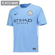 Nike Youth Manchester City Home '17-'18 Stadium Soccer Jersey (Field Blue/Midnight Navy)