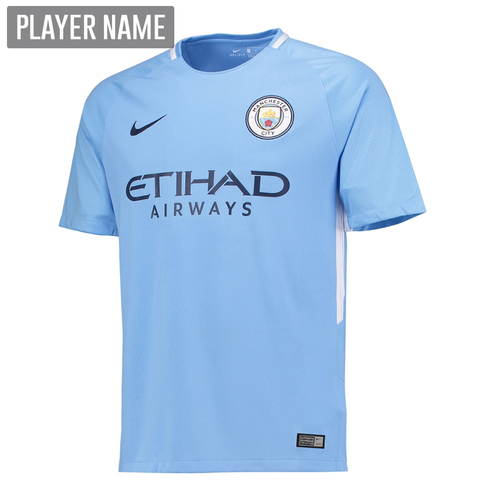 ee01ea73b1f Nike Youth Manchester City Home  17- 18 Stadium Soccer Jersey (Field ...