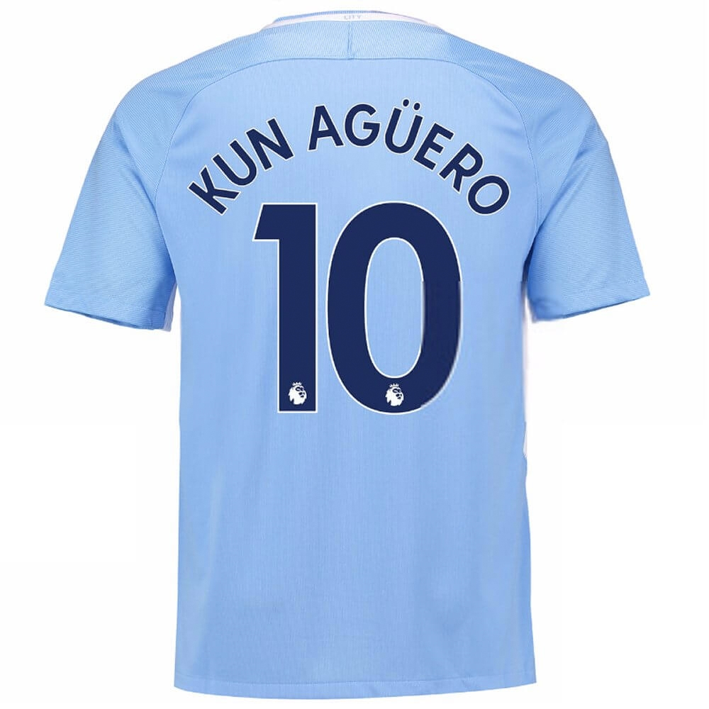 925af6110ed Nike Youth Manchester City 'KUN AGUERO 10' Home '17-'18 Stadium Soccer  Jersey (Field Blue/Midnight Navy) | 847403-489 | Nike Manchester City Jersey  ...