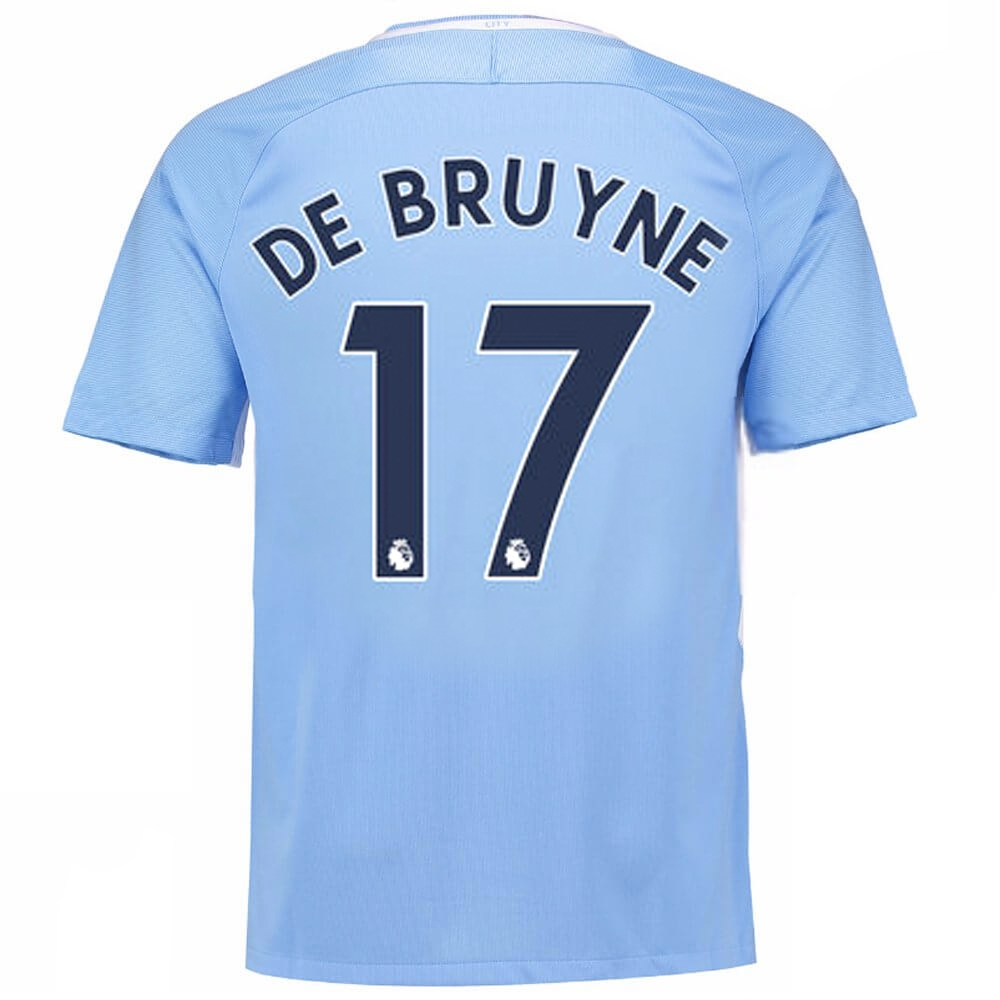 Nike Youth Manchester City  DE BRUYNE 17  Home  17- 18 Stadium Soccer Jersey  (Field Blue Midnight Navy)  bb7a048f3