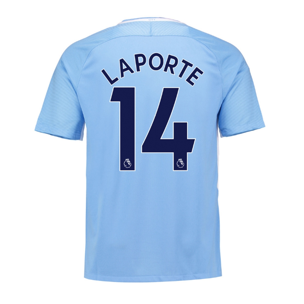 Nike Youth Manchester City 'LAPORTE 14' Home '17-'18 Stadium Soccer