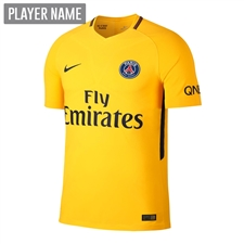 Nike Paris St. Germain Youth Away '17-'18 Soccer Jersey (Tour Yellow/Midnight Navy)