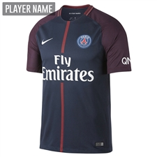 Nike Paris St. Germain Home '17-'18 Youth Soccer Jersey (Midnight Navy/White)
