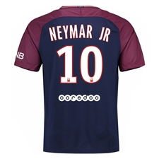 Nike Paris St. Germain 'NEYMAR 10' Home '17-'18 Youth Soccer Jersey (Midnight Navy/White)