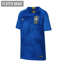 Nike Brazil Youth Away Stadium Jersey '18-'19 (Soar/Midwest Gold)