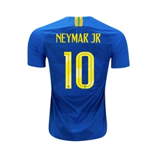 Nike Youth Brazil 'NEYMAR 10' Away Stadium Jersey '18-'19 (Soar/Midwest Gold)