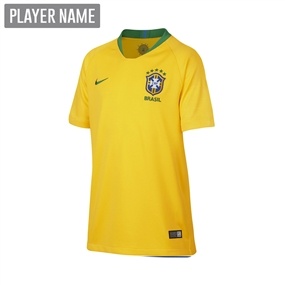 Nike Brazil Youth Home Stadium Jersey '18-'19 (Midwest Gold/Lucky Green)
