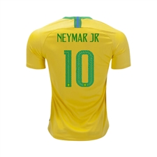 Nike Youth Brazil 'NEYMAR 10' Home Stadium Jersey '18-'19 (Midwest Gold/Lucky Green)