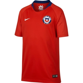 Nike Youth Chile Home Stadium Jersey '18-'19 (Chile Red/White)