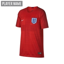 Nike England Youth Away Stadium Jersey '18-'19 (Challenge Red/Gym Red/White)