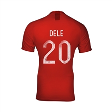Nike England Youth 'DELE 20' Away Stadium Jersey '18-'19 (Challenge Red/Gym Red/White)