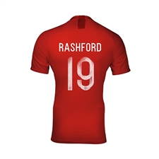 Nike England Youth 'RASHFORD 19' Away Stadium Jersey '18-'19 (Challenge Red/Gym Red/White)