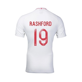 Nike Youth England 'RASHFORD 19' Home Stadium Jersey '18-'19 (White/Sport Royal)