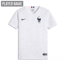 Nike Youth France Away Stadium Jersey '18-'19 (White/Obsidian)