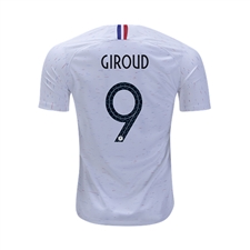 Nike Youth France 'GIROUD 9' Away Stadium Jersey '18-'19 (White/Obsidian)