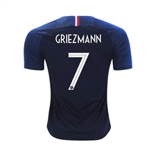 Nike Youth France 'GRIEZMANN 7' Home Stadium Jersey '18-'19 (Obsidian/White)