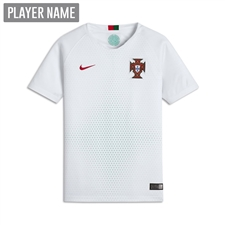 Nike Portugal Youth Away Stadium Jersey '18-'19 (White/Gym Red)
