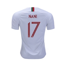 Nike Portugal 'NANI 17' Youth Away Stadium Jersey '18-'19 (White/Gym Red)