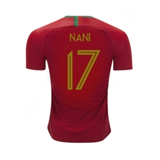 Nike Youth Portugal 'NANI 17' Home Stadium Jersey '18-'19 (Gym Red)