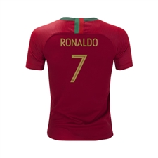 Nike Youth Portugal 'RONALDO 7' Home Stadium Jersey '18-'19 (Gym Red)
