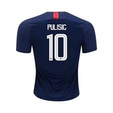 Nike Youth USA 'PULISIC 10' Away Stadium Jersey '18-'19 (Midnight Navy/Blue Nebula/White)