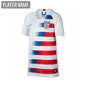 Nike USA Youth Home Stadium Jersey '18-'19 (White/Speed Red/Blue Nebula)