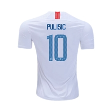 Nike Youth USA 'PULISIC 10' Home Stadium Jersey '18-'19 (White/Speed Red/Blue Nebula)