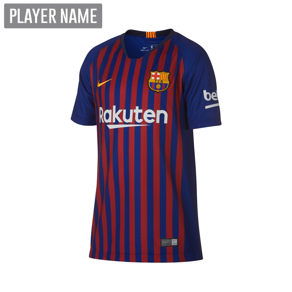 2a2ab3c994e Nike Youth FC Barcelona Home Stadium Jersey  18- 19 (Deep Royal  Blue University Gold)
