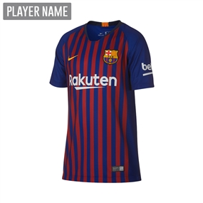 Nike Youth FC Barcelona Home Stadium Jersey '18-'19 (Deep Royal Blue/University Gold)