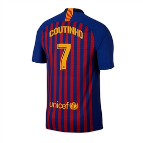 Nike Youth FC Barcelona 'COUTINHO 7' Home Stadium Jersey '18-'19 (Deep Royal Blue/University Gold)
