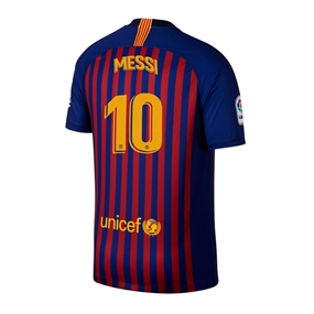 Nike Youth FC Barcelona 'MESSI 10' Home Stadium Jersey '18-'19 (Deep Royal Blue/University Gold)