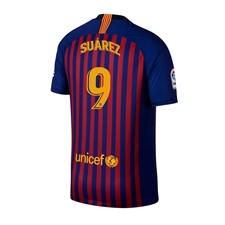Nike Youth FC Barcelona 'SUAREZ 9' Home Stadium Jersey '18-'19 (Deep Royal Blue/University Gold)