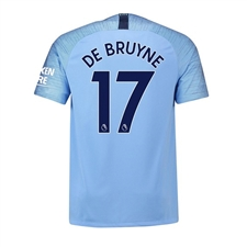 Nike Youth Manchester City 'DE BRUYNE 17' Home Stadium Jersey '18-'19 (Field Blue/Midnight Navy)