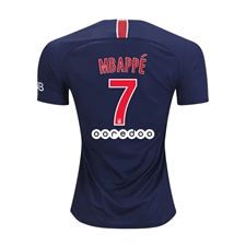 Nike Youth Paris St. Germain 'MBAPPE 7' Home Stadium Jersey '18-'19 (Midnight Navy/White)