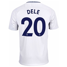 Nike Tottenham Youth 'DELE 20' Home '17-'18 Soccer Jersey (White/Binary Blue)