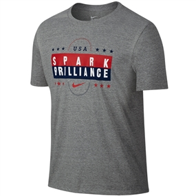 Nike USA Spark Brilliance Youth T-Shirt (Dark Heather Grey)