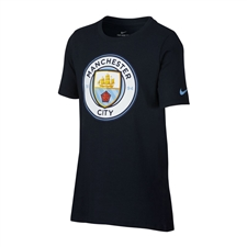 Nike Youth Manchester City FC T-Shirt (Dark Obsidian)